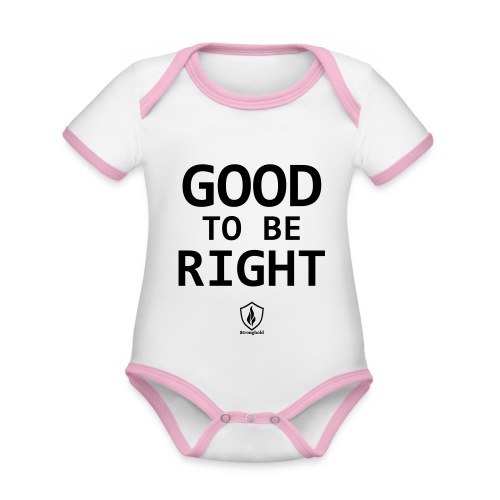Good to be Right - Baby Bio-Kurzarm-Kontrastbody