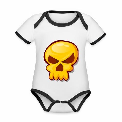 Golden Skull - Body contraste para bebé de tejido orgánico