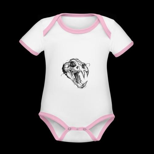 Teschio Tigre - Body da neonato a manica corta, ecologico e in contrasto cromatico