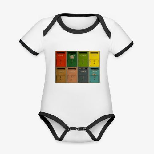 Briefkasten - Baby Bio-Kurzarm-Kontrastbody
