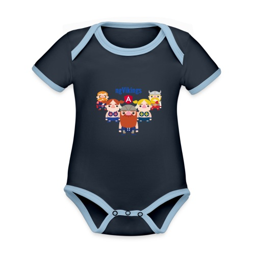 Viking Friends - Organic Baby Contrasting Bodysuit