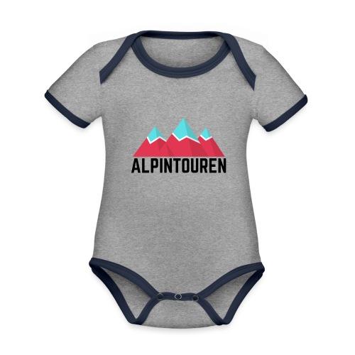 Alpintouren - Baby Bio-Kurzarm-Kontrastbody