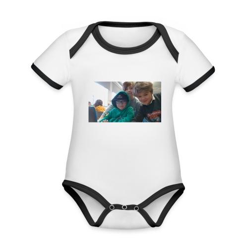 hihi - Ekologisk kontrastfärgad kortärmad babybody