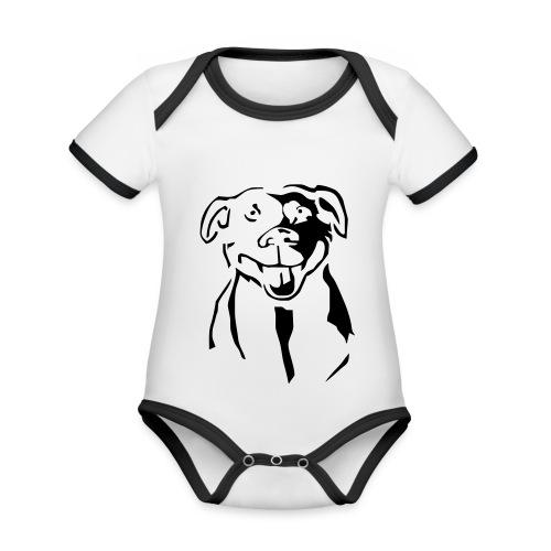 Staffordshire Bull Terrier - Vauvan kontrastivärinen, lyhythihainen luomu-body