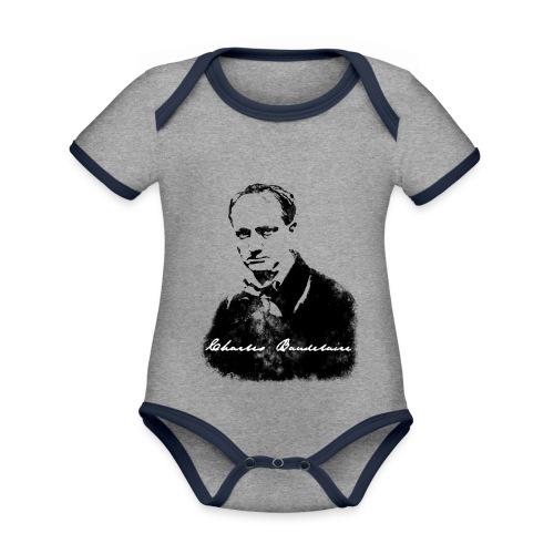 Charles Baudelaire - Body Bébé bio contrasté manches courtes