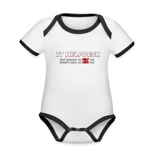 I.T. HelpDesk - Organic Baby Contrasting Bodysuit