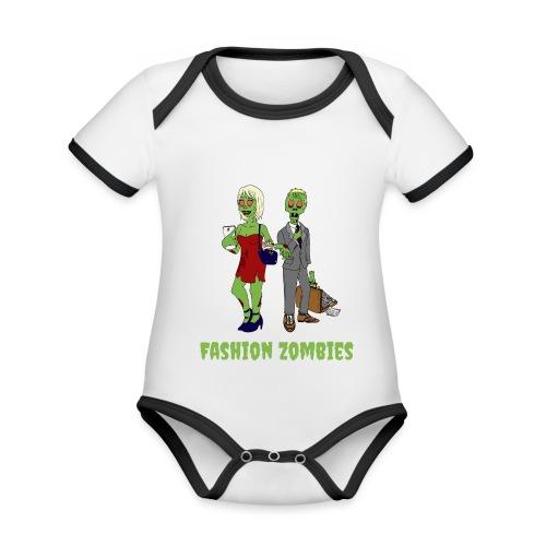Fashion Zombie - Organic Baby Contrasting Bodysuit