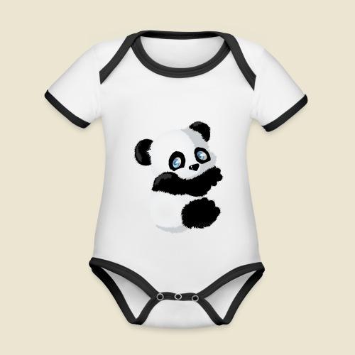 Bébé Panda - Body Bébé bio contrasté manches courtes