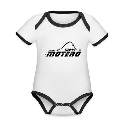 100% Motero - Body contraste para bebé de tejido orgánico