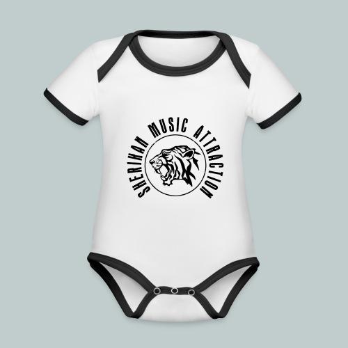 Sherikan Logo - Ekologisk kontrastfärgad kortärmad babybody