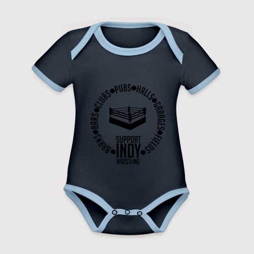 Support Indy Wrestling Anywhere - Organic Baby Contrasting Bodysuit