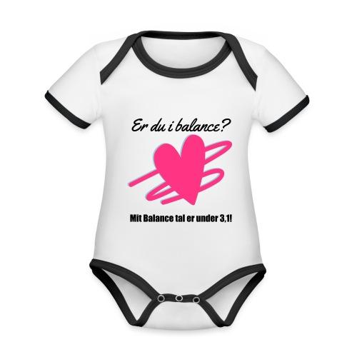 I Balance Design - Kortærmet økologisk babybody i kontrastfarver