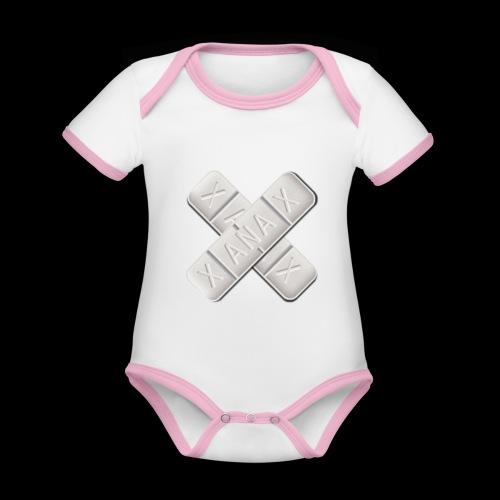 Xanax X Logo - Baby Bio-Kurzarm-Kontrastbody