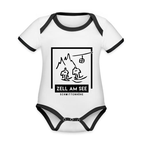 Skido's Zell am See - Baby contrasterend bio-rompertje met korte mouwen