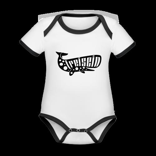 freisein - Baby Bio-Kurzarm-Kontrastbody