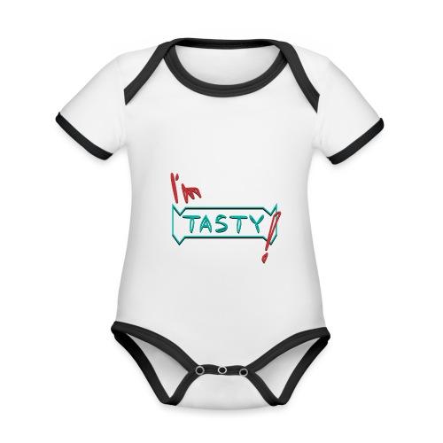 I'm tasty - Baby Bio-Kurzarm-Kontrastbody