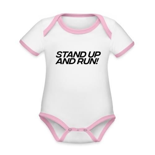 Stand up - Baby Bio-Kurzarm-Kontrastbody