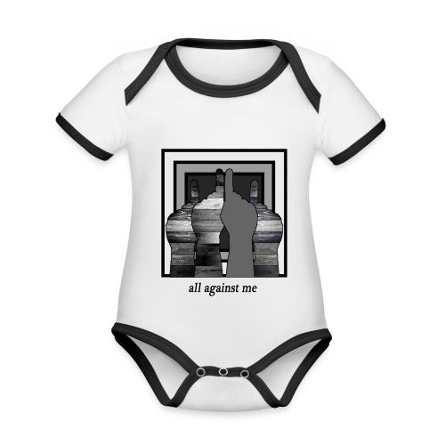 ALL AGAINST ME-2 - Body contraste para bebé de tejido orgánico