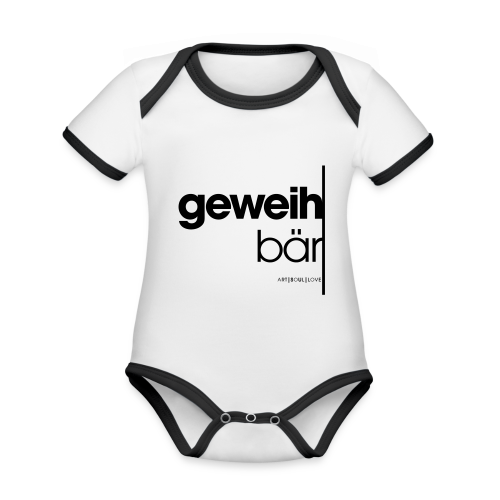 geweihbär 2019 - Baby Bio-Kurzarm-Kontrastbody