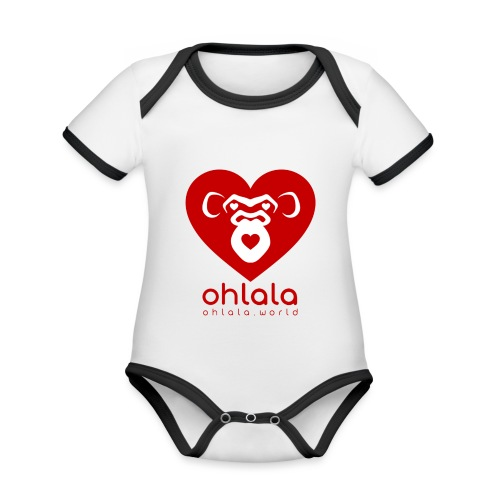 Ohlala LOVE - Body Bébé bio contrasté manches courtes