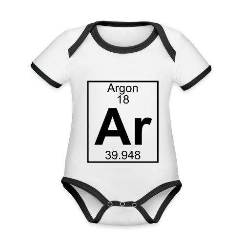 Argon (Ar) (element 18) - Organic Baby Contrasting Bodysuit