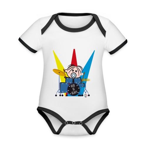 HIJO DE HEAVY - Body contraste para bebé de tejido orgánico