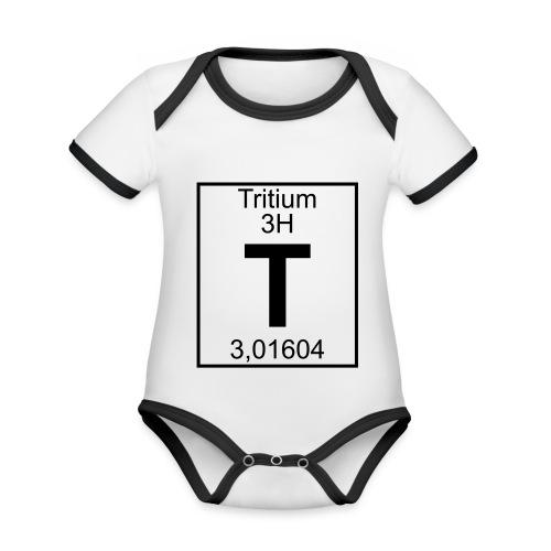T (tritium) - Element 3H - pfll - Organic Baby Contrasting Bodysuit