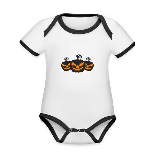 Halloween - Organic Baby Contrasting Bodysuit