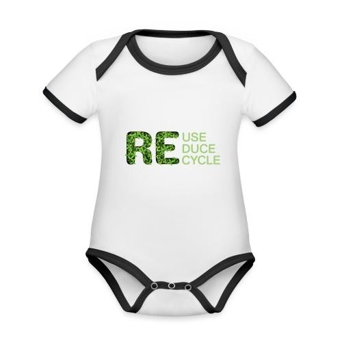 REuse REduce REcycle - Body da neonato a manica corta, ecologico e in contrasto cromatico