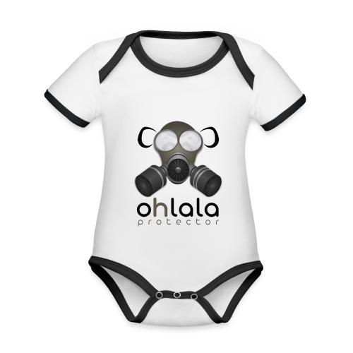 OHLALA PROTECTOR BLK - Body Bébé bio contrasté manches courtes