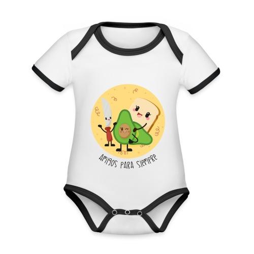 Amigos para siempre 2 - Body contraste para bebé de tejido orgánico