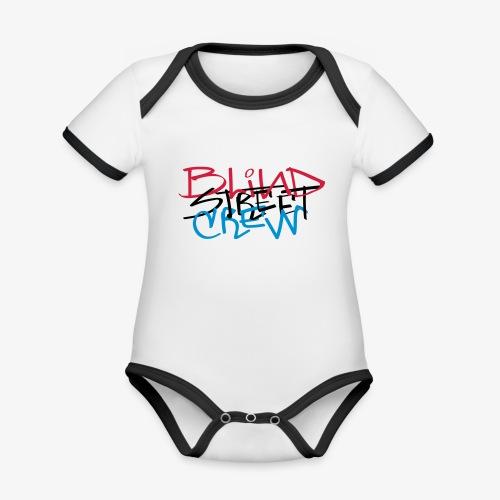 BSC Tag Rasta - Body da neonato a manica corta, ecologico e in contrasto cromatico