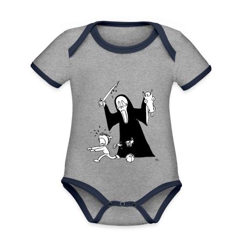 halloween t-skjorte - Økologisk kortermet kontrast-babybody