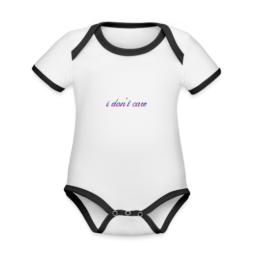 I DO NOT CARE - Organic Baby Contrasting Bodysuit