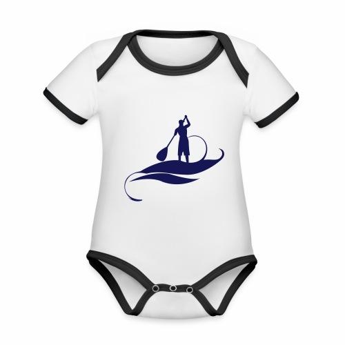 Paddle Man - Body Bébé bio contrasté manches courtes