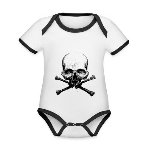 DeadSkull - Body da neonato a manica corta, ecologico e in contrasto cromatico