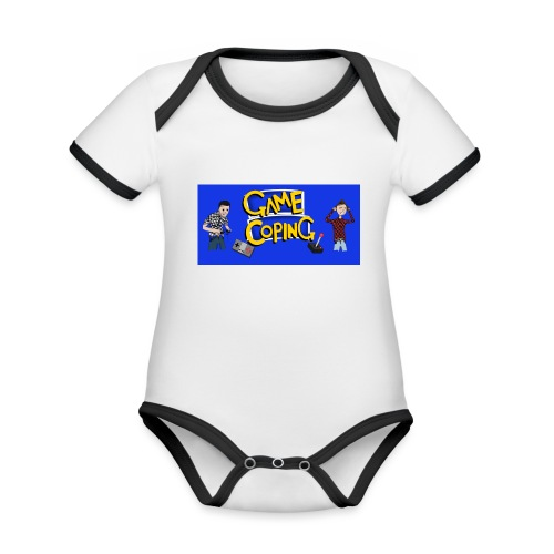 Game Coping Angry Banner - Organic Baby Contrasting Bodysuit
