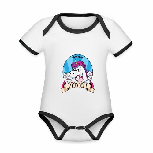 Murder Unicorn - Baby Bio-Kurzarm-Kontrastbody