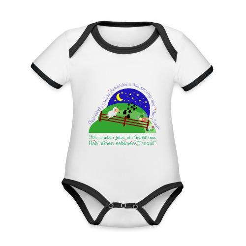 Schäfchen - Baby Bio-Kurzarm-Kontrastbody