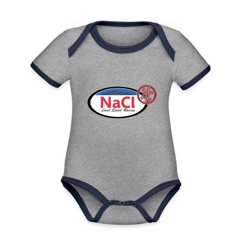 Logo NaCl - Body Bébé bio contrasté manches courtes