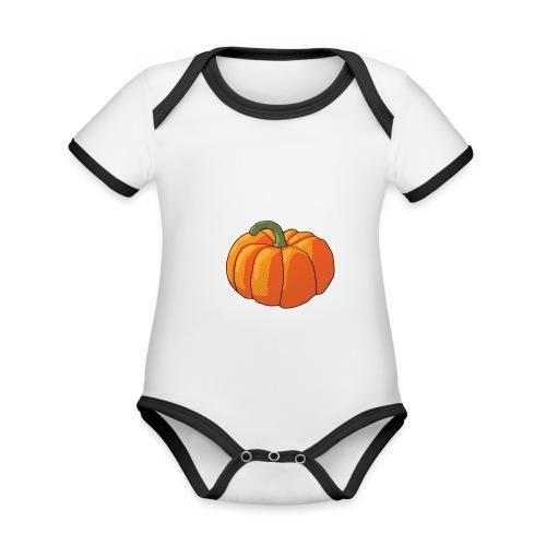 Pumpkin - Body da neonato a manica corta, ecologico e in contrasto cromatico