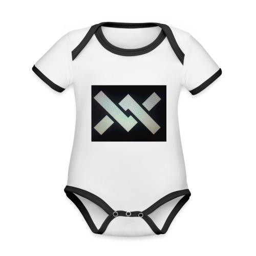 Original Movement Mens black t-shirt - Organic Baby Contrasting Bodysuit