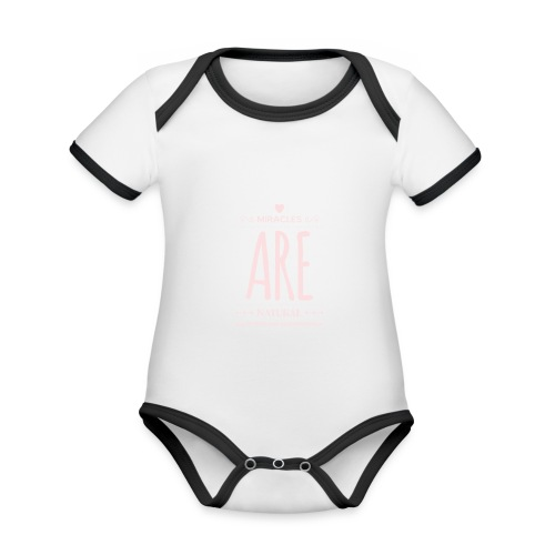 Daniela Elia Design - baby - miracles are natural - Baby Bio-Kurzarm-Kontrastbody