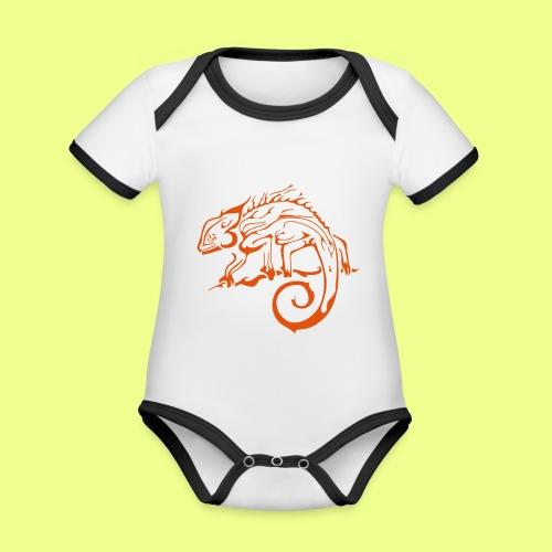 iguana - Body contraste para bebé de tejido orgánico