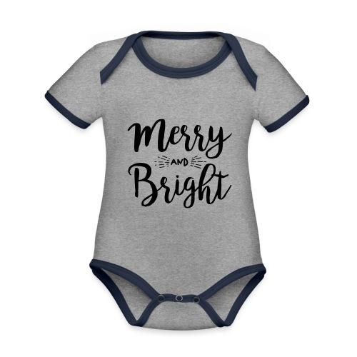 Merry and Bright - Baby Bio-Kurzarm-Kontrastbody