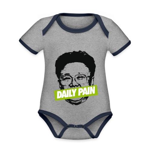 daily pain cho - Ekologiczne body niemowlęce z krótkim rękawem i kontrastowymi lamówkami