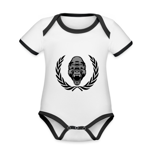 therealkingdomoficial - Body contraste para bebé de tejido orgánico
