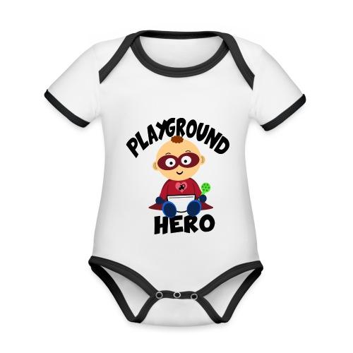 Playground Hero - Baby Bio-Kurzarm-Kontrastbody