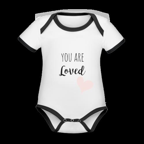 You are Loved - Baby Bio-Kurzarm-Kontrastbody