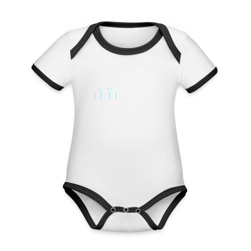 NeonRun - Baby contrasterend bio-rompertje met korte mouwen